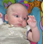 baby talks to the hand