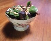 Warm mushroom, asparagus and goat's-cheese salad