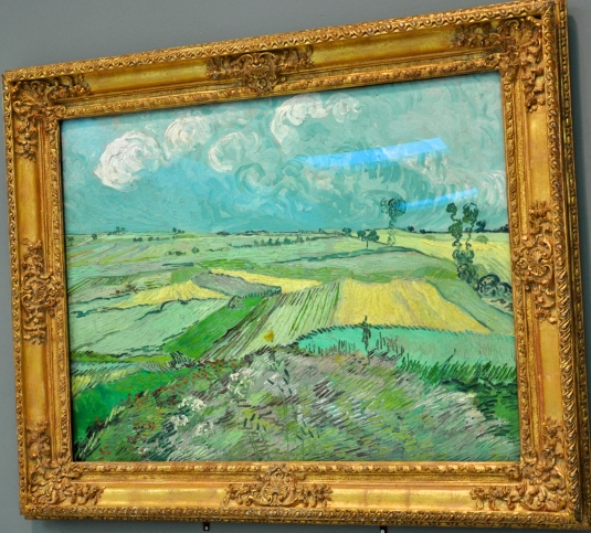 "Van Gogh's ""Wheat fields after the rain."" Wheat is a food staple."