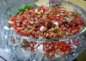 Pomegranate, goddess of love, makes heavenly salad