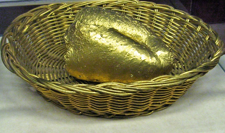 This sinister gilded crust was the model for Salvador Dali's famous painting Bread 1926.