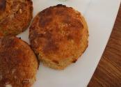 Feathery sweet potato scones