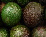 Ripe avocados are dark skinned