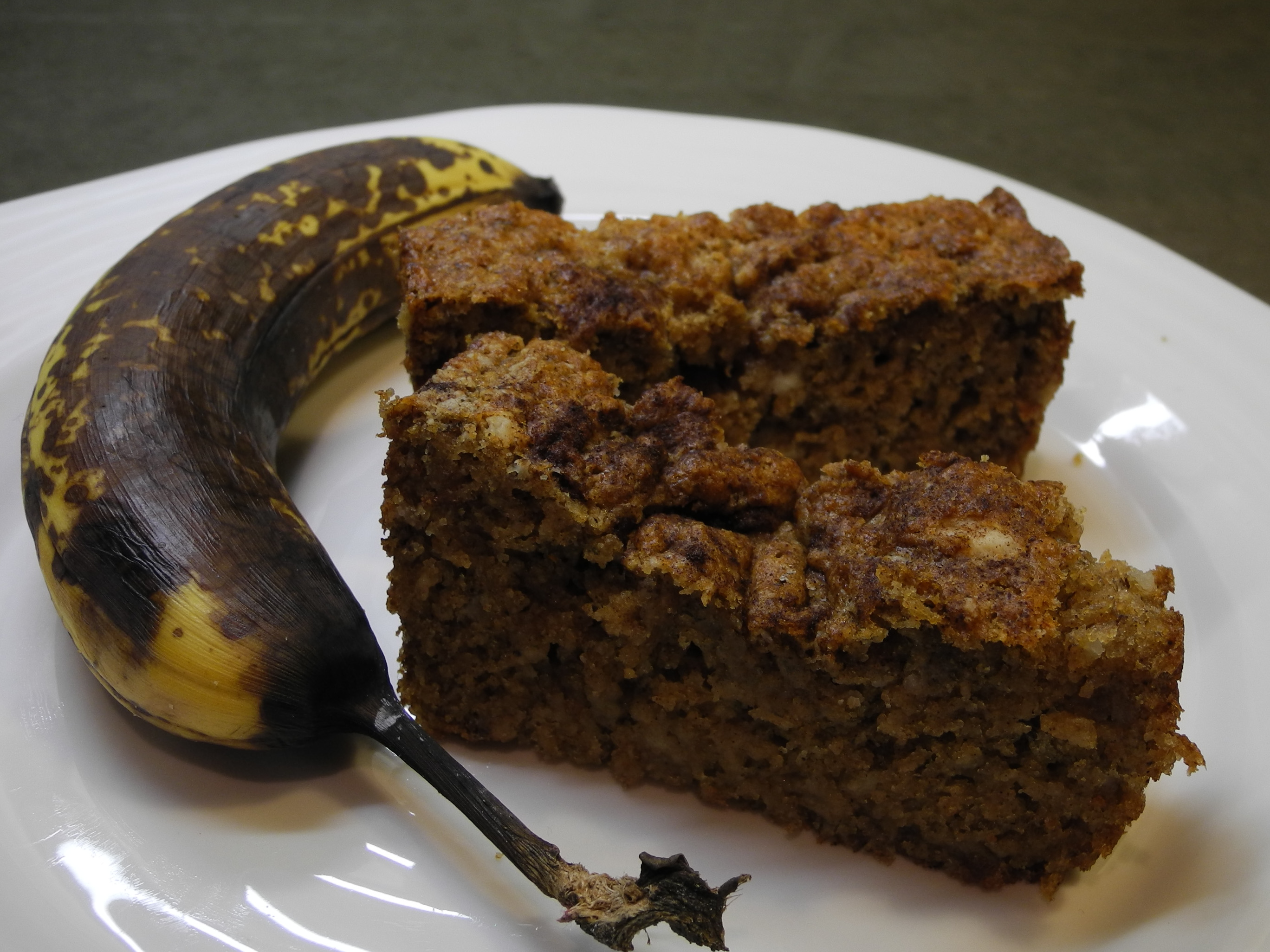 Healthy banana bread from super ripe bananas