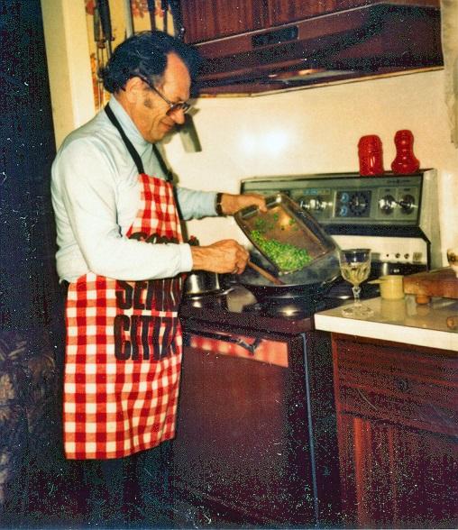 Dad in the kitchen