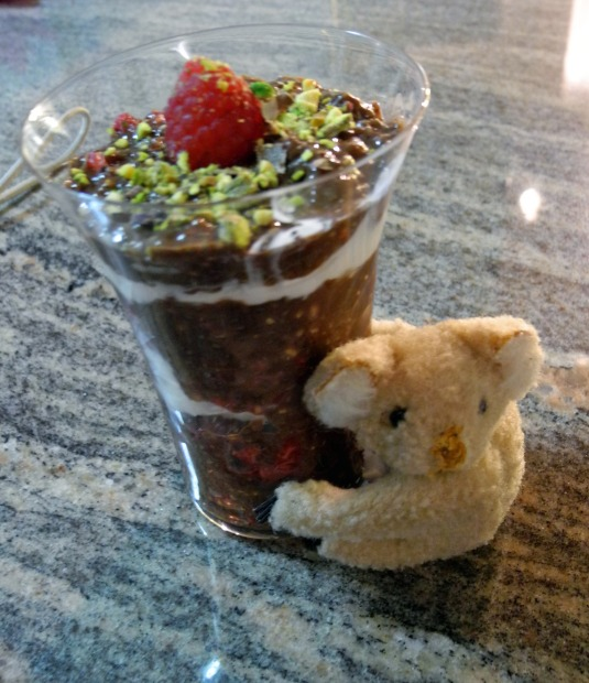 Chia pudding cup