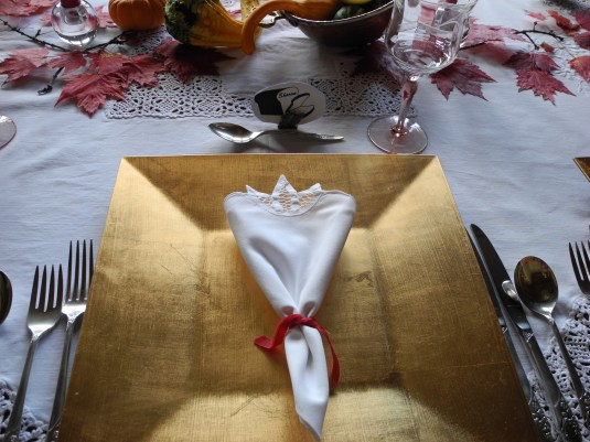 gourmet dinner - red theme