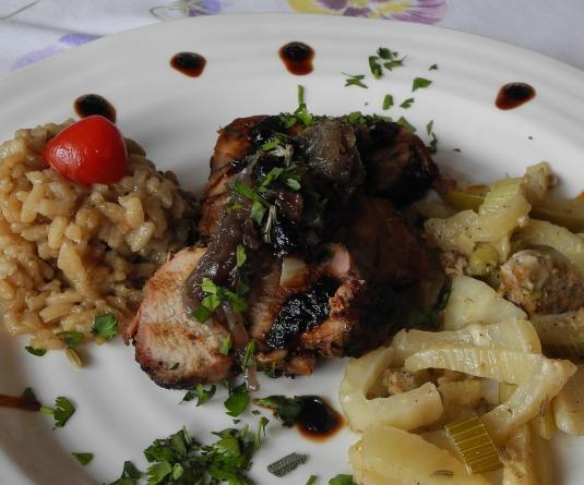 Spring gourmet main course