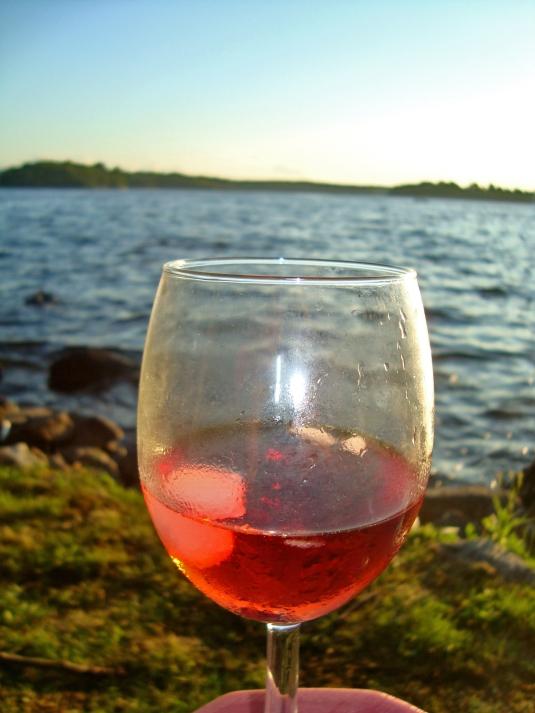 Cranberry juice spritzer
