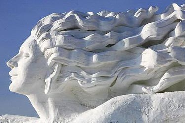 Ice, snow, frost, sculptures