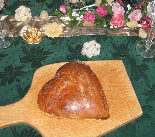 Valentines bread