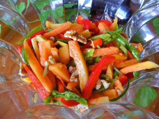 Mango salad made with papaya