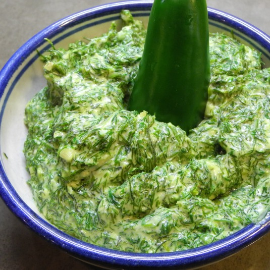 Gollum's green seaweed chili, AKA Dill dressing