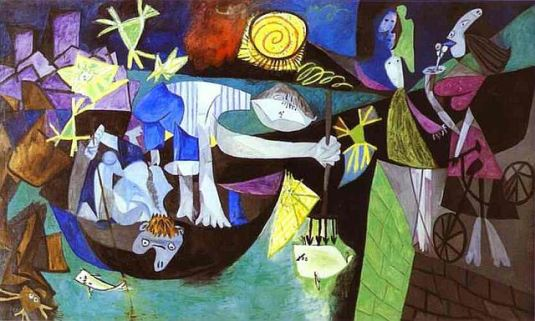 "Picasso's ""Night fishing in Antibes"""