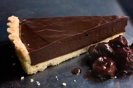 Chocolate-ganache-tart-ganache-chocolat