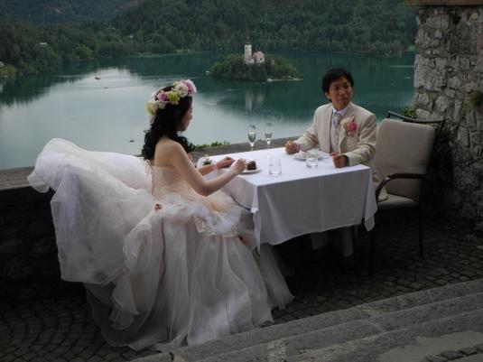 Wedding at Bled castle