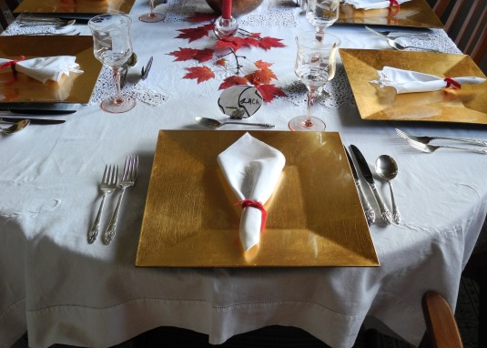 gourmet dinner - red theme