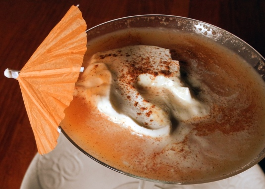 Pumpkin Pie Punch - rum julip