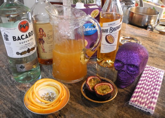 Hurricane, a traditional Mardi Gras Cocktail